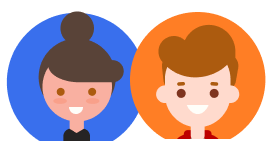 Мальчик и девочка иконка
